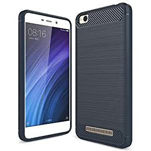 Xiaomi Redmi 4A Case Ultra Light Carbon Fiber Armor Shockproof Brushed Silicone Grip Case for Xiaomi Redmi 4A