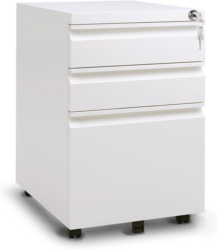 DEVAISE file cabinet, White