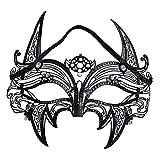 JTWJ Prom Iron Mask Metal Diamond Party Sexy Pointer Half Face Blind