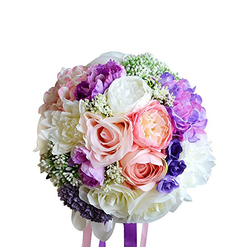 Moleya-9-Inch-Handmade-Vintage-Artificial-Silk-Roses-Wedding-Bouquet-for-Bridal-Bridesmaid-Holding-Flower