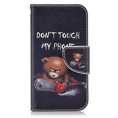 Galaxy J1 2016 Case,XYX [Do not Touch My Phone][Double Sided Design] [Kickstand][Card Slots] Premium PU Leather Phone Wallet Case for Samsung Galaxy J1 2016 / Galaxy Amp 2 / Galaxy Express 3