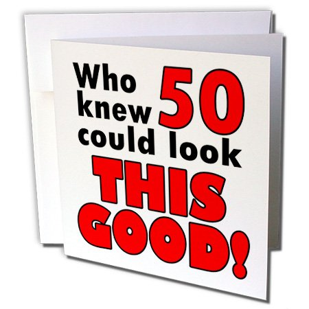 Amazon Who Knew 50 Could Look This Good Red Greeting Cards