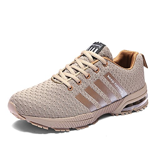 Fitness Sport Competition Flats Sneakers Chaussures Senbore Running Casual Athletic Marron Trainers Air Hommes De FxPw0IwTnq