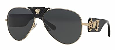 black and gold aviators e7ly  Versace VE2150Q
