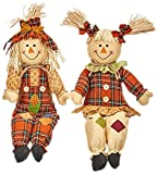 Worth Imports 24'' Sitting Scarecrow, Set of 2
