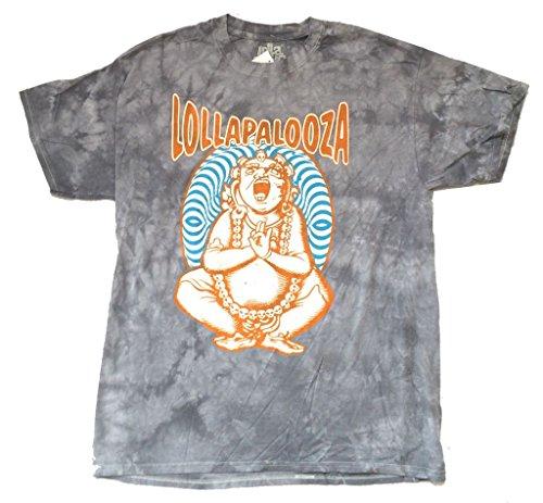 Lollapalooza Festival Buddha Man Grey Tie Dye T Shirt (M)