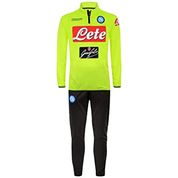 2018-2019 Napoli Presentation Tracksuit (Yellow)  Amazon.es ... 159d0ad08f339
