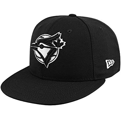 New Era 59fifty Fitted Hat Toronto Blue Jays AltBird Black White Men's Cap
