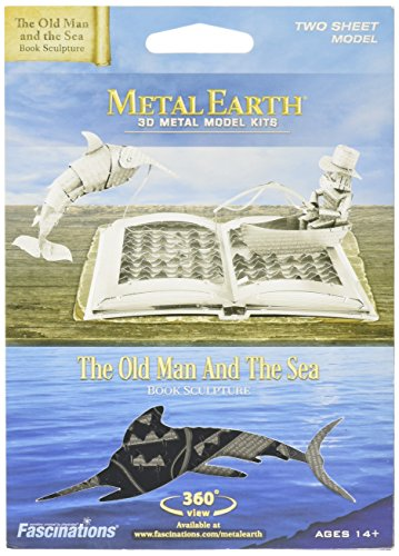 Metal Earth Model The Old Man and The Sea Book Sculpture (Fascinations - Earth Sculpture