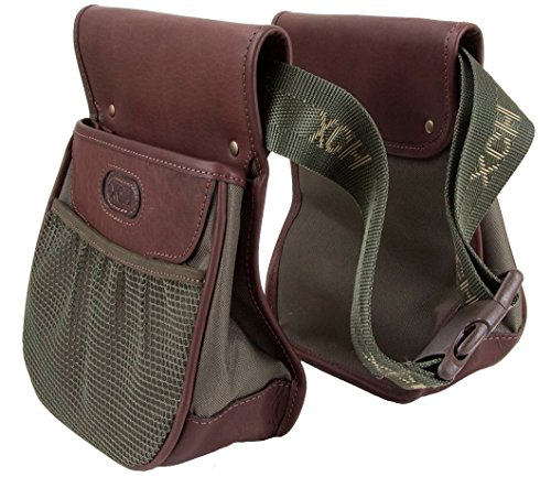 The set of waist belt with two trap shooting waist ammo bags / shotgun shell pouches by XCH