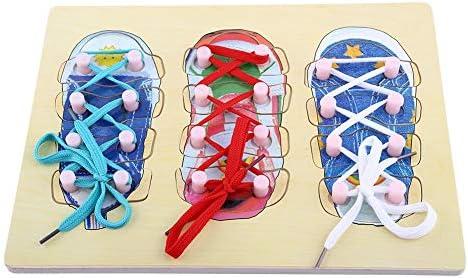 Liukouu Corbata de Madera Cordón de Zapato Junta de roscado ...