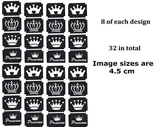 Princess Tattoo Stencil Collections (32 Tattoo Glitter Airbrush Stencil Crown) for $<!--$13.00-->