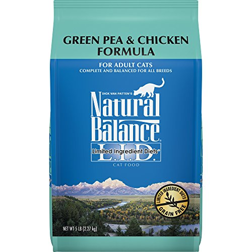 Natural Balance L.I.D. Limited Ingredient Diets Dry Cat Food, Grain Free, Green Pea & Chicken Formula, 5-Pound (Best Cat Food For Hedgehogs)