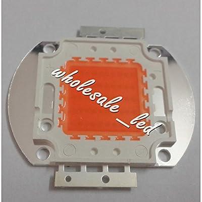 led world 50W 380-840nm Full Spectrum Plant Grow led lamp+20W-100W Heatsink fan + 44mm lens kits+Led Driver input 85-265v Output 30-36v
