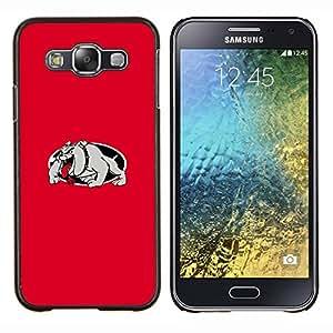 Qstar Arte & diseño plástico duro Fundas Cover Cubre Hard Case Cover para Samsung Galaxy E5 E500 (Dogo rojo)