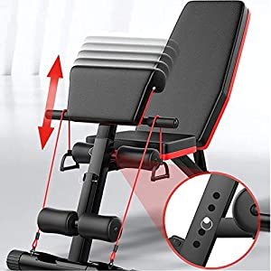 Weight Bench, Adjustable Strength Training Sit Up Incline Abs Exercise Bench for Full Body Workout Multi-Purpose Utility Weight Bench Foldable Flat Bench Press for Home Gym