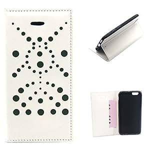 Por iphone 6 , ivencase Simple Style PU Cuero Flip Stand Protector Funda Carcasa Tapa Case Cover Por Apple iphone 6 (4.7 inch) / iphone Air Blanco