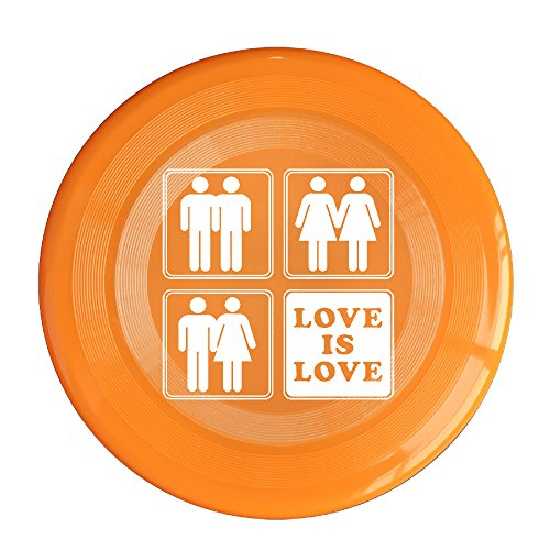 VOLTE Love Is Love Gay Marriage Orange Flying-discs 150 Grams Outdoor Activities Frisbee Star Concert Dog Pet Toys (German Shepherd Toaster compare prices)