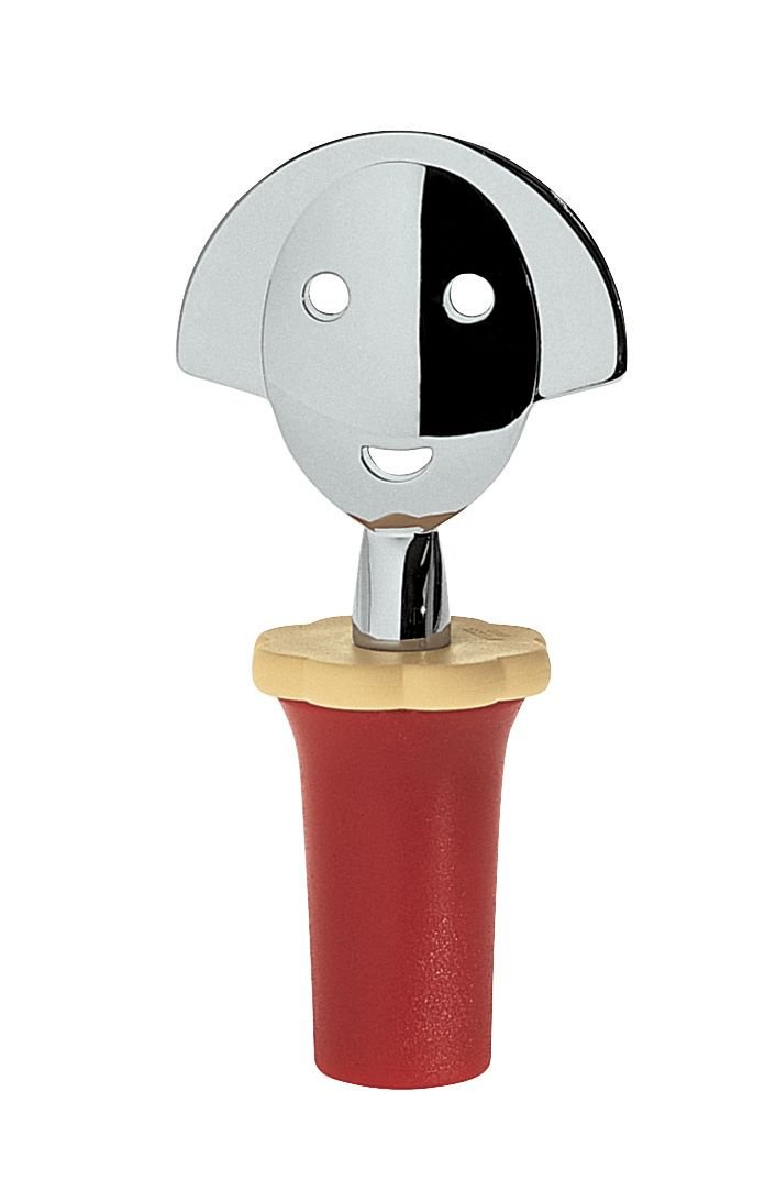 A di Alessi Anna Stop 2 Bottle Stopper, Red by Alessi