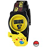 Pokemon Quartz Plastic Casual Watch, Color:Black (Model: POK3085)