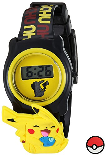 (Pokemon Pokemon Kids' POK3085 Digital Display Quartz Black Watch)