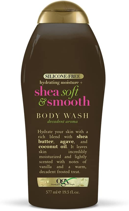 OGX Hydrating Moisture + Shea Soft & Smooth Body Wash, 19.5 Ounces