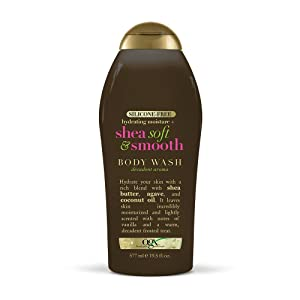 OGX Hydrating Moisture + Shea Soft & Smooth Body Wash, 19.5 Ounces