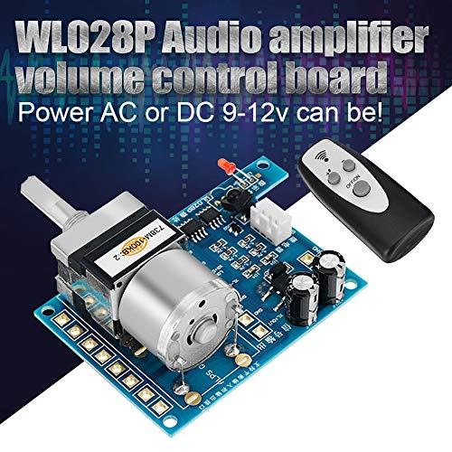 - SMALL-CHIPINC - AC/DC 9V Infrared Remote Control Volume Control Board ALPS Pre Potentiometer 80mmx 51mm Electric Control Board Modules
