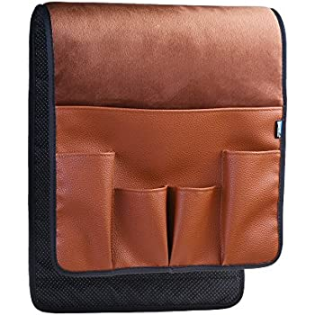 BCP Brown Color Velvet Sofa Couch Chair Armrest Soft Caddy Organizer Holder  For Remote Control,