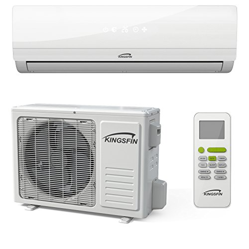 kingsfin mini split ductless ac air conditioner and heat pump 18000 btu 230v 15 seer complete. Black Bedroom Furniture Sets. Home Design Ideas