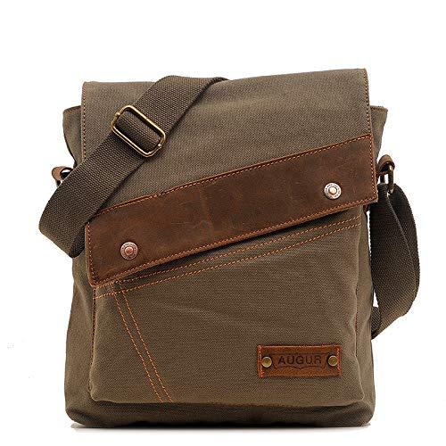 Wonder Moon Messenger Bag,Vintage Canvas Shoulder Crossbody Bag for Everyday Use Military Green