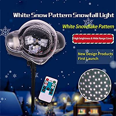 LED Proyector Luces para Navidad, Copos De Nieve Efecto De Caída ...