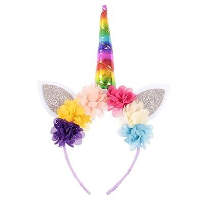 Cupcinu Diadema de unicornio Diadema de cumpleaños navideña Diadema ...