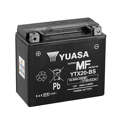 YUASA – Batteria YTX20-BS Combipack (con elettrolito).