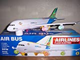 Air Bus A380 Aeroplane Bump and Go with flashing lights Sound effects Toy Sound Light Model Airplane