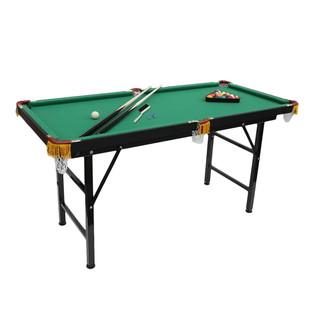Mini Pool Tables 54 Inches Foldable Billiard Table with Free Complete Accessories Set by FISOUL