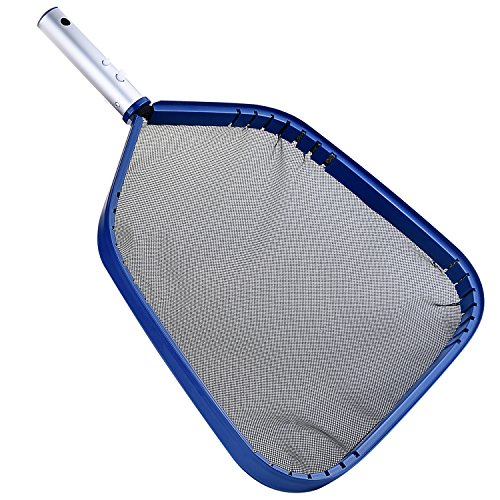 Persevere Heavy Duty Swimming Pool Leaf Skimmer Net, Fine Mesh Leaf Skimmer for removing debris (One Year ()
