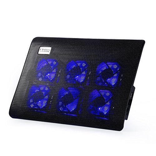 LESHP Laptop Cooling Pad, USB Laptop Fan (6 Fans)
