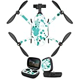 MightySkins Protective Vinyl Skin Decal for GoPro Karma Drone Headphones wrap Cover Sticker Skins Teal Splatter