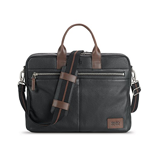 Solo Shorewood Pebbled Leather Briefcase