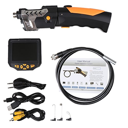 [Upgraded Tool Box Added] Industrial Inspection Camera with 3.5 Inch LCD Color Screen Endoscope Borescope Waterproof Handheld Snake Camera with Semi-Rigid 9.84ft Cable by SHEKAR (Image #9)