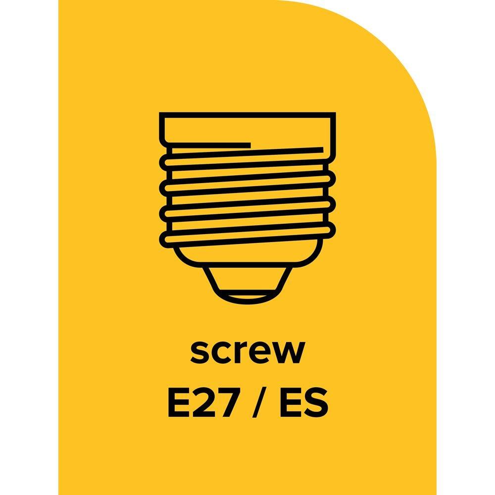 Light Zone ECO Halogen Classic 57W ES E27 Edison Screw Cap ECO Halogen Light Bulb Eqv to 75 W 920 Lumens 3Pack