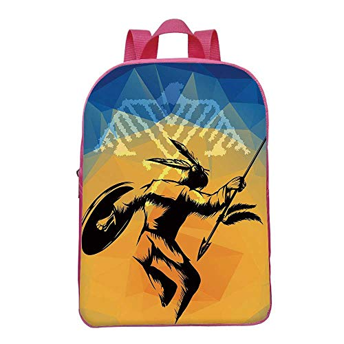 Native American Durable Backpack,War Dance Ritual Against Ancient,for School