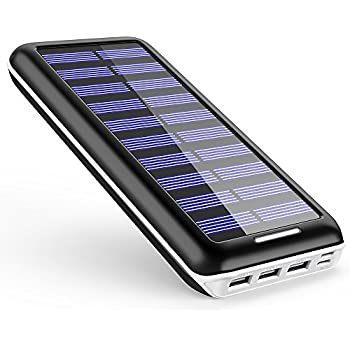 Battery Pack AKEEM Portable Charger 22000mAh External Battery Power Bank with Dual Input Port and Solar charger, 3 USB Ports for iPhone, iPad, Samsung Galaxy, Android and other Smart Devices