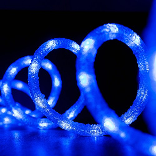 18 Blue Led Indoor/Outdoor Christmas Rope Lights