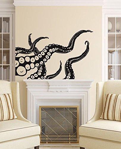Octopus wall decal tentacles vinyl sticker decals bathroom kraken octopus fish deep sea scuba ocean animals