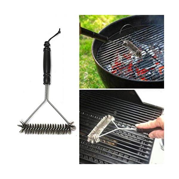 WUJIANCHAO Accessori per Attrezzi per la Pulizia del Barbecue Esterno in Acciaio Inossidabile con Spazzola per la… 2 spesavip