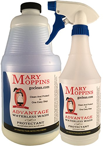 Mary Moppins Advantage Waterless Wash and UV Protectant 64oz