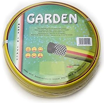 Tecnor - Manguera reforzada de goma, 3/4 pulgadas x 50 m, para riego de huerto, jardín, obras: Amazon.es: Jardín