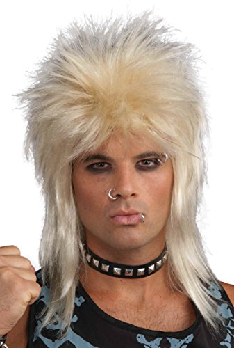 [80s Rock Star Unisex Blonde Spiked Rocker Costume Wig] (80s Rock Costumes)
